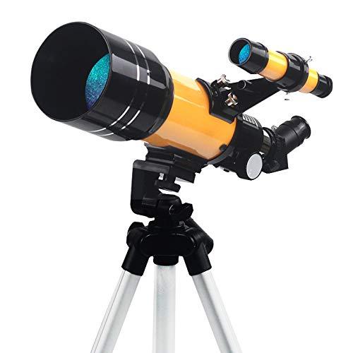 Astronomical Telescope 30070 es exactamente como un Buen compañero para niños y Principiantes, para Ver la Luna y la Tierra en Alta resolución y en Espacios Profundos.