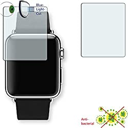 2 x DISAGU ClearScreen screen protection film for Apple Watch 38mm antibacterial, BlueLight filter protective film (intentionally smaller than the display due to its curved surface)