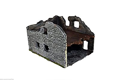 WWS RBK1 20mm Ruined Wartime Building WWI, WWII R21 by WWS