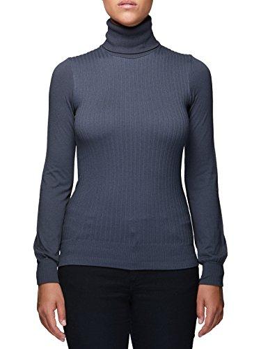 Dolcevita donna manica lunga Viscosa lana Microfibra antibatterica Maglieria collo alto Fashion Casual Sexy Maglieria Sensì Made in Italy - S/M-M/-L/XL zinco