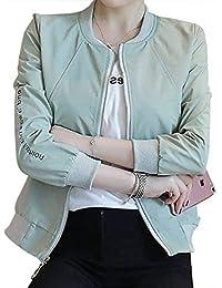 Mujer Chaquetas Primavera Otoño Carta Estampadas Abrigos Fashion Informales  Cómodo Lindo Chic Hipster Chaqueta Manga Larga 5300a2f6d60