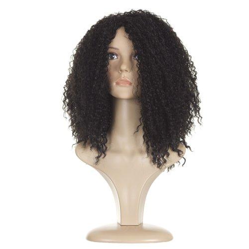 Perruque Coupe Afro Noire Style Rihanna | Perruque Bouclée Longue et Pleine de Volume Coupe Afro