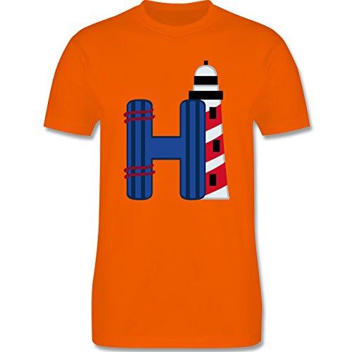 Anfangsbuchstaben - H Schifffahrt - Herren Premium T-Shirt Orange
