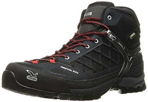 SALEWA Ms Firetail Evo Mid Gtx, Mens Trekking and Hiking Boots, Black (0900 Black), 11.5 UK