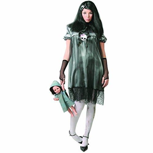Imagen de disfraz de niña zombie niño de los muertos l 42/44 muñeca muerto viviente atuendo mujer fantasmal outfit fiesta de miedo traje carnaval de terror
