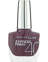 Maybelline New York Make-Up Nailpolish Express Finish Nagellack Prune Acidule / Ultra schnelltrocknender Farblack in sattem Bordeaux, 1 x 10 ml
