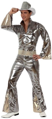 Atosa - 10382 - Costume - Déguisement Homme Disco Argent - Taille 3