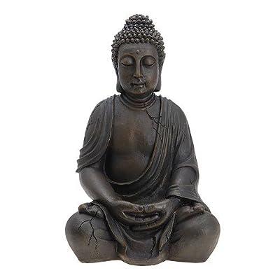 Buddha Figur Statue sitzend Indonesien Antik-Stil 51cm