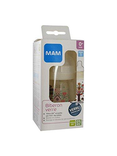 Preisvergleich Produktbild Mam Glass Bottle 170ml Silk Teat 0 Months
