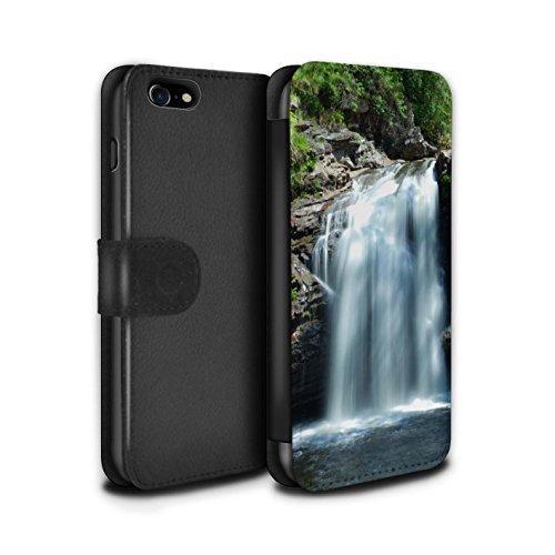 Stuff4 Coque/Etui/Housse Cuir PU Case/Cover pour Apple iPhone 7 / Loch/Vallée Design / Campagne Écossais Collection Cascade
