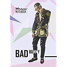 Notebook: Bad Bunny notebook Medium College Ruled Notebook 130 page Lined 7 x 10 in