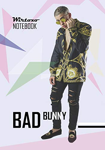 Notebook: Bad Bunny notebook Medium College Ruled Notebook 130 page Lined 7 x 10 in (17.78 x 25.4 cm) por Wirtoxo