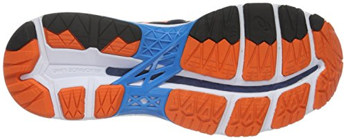 Asics Gel-Kayano 23, Chaussures de Running Homme Bleu (Poseidon/Flame Orange/Blue Jewel)