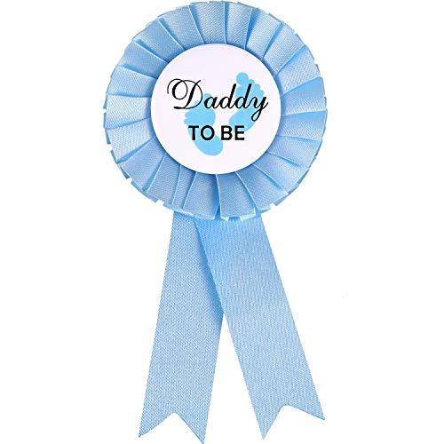 Papa zu Sein Weißblech Abzeichen Stift Baby Dusche Buttons Junge Blau Neue Papa Geschenke für Geschlecht Enthüllt Party Feier Lieferungen