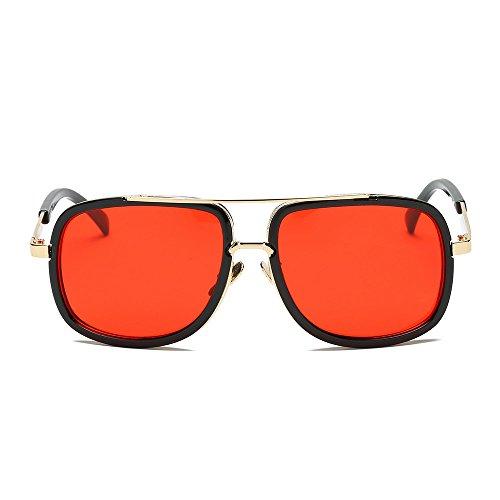 Auifor ✿Frauen Männer Mode Quadrate Metallrahmen Marken-klassische Sonnenbrille
