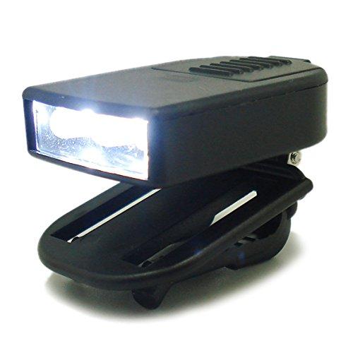 BestCool Schwarz 3 LED Clip On-Licht, MINI Nachtfischen Mehrzweckgläser Drehen Sie Nach Oben und Unten LED Camping Taschenlampe Clip-Leuchten für Caps Hüte Clip über Wandern Camping Cap Hut Licht