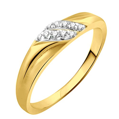 Vidhi Jewels Gold Plated Unique Diamond Alloy & Brass Finger Ring for Women [VFR288G]  available at amazon for Rs.125