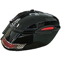 Alforjas rigidas para moto custom de 50 litros de capacidad. Color en negro brillo.