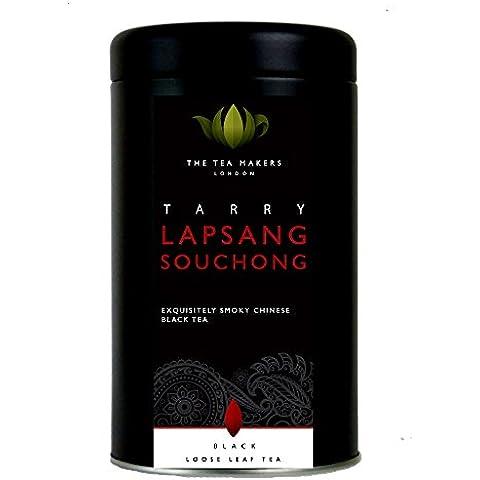 The Tea Makers of London Tarry Lapsang Souchong (Smoked Tea) 125 g Caddy - Foglia Maker
