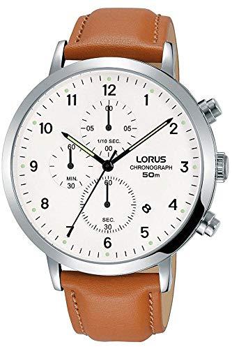 Lorus Orologio Cronografo Quarzo Uomo con Cinturino in Pelle RM319EX9