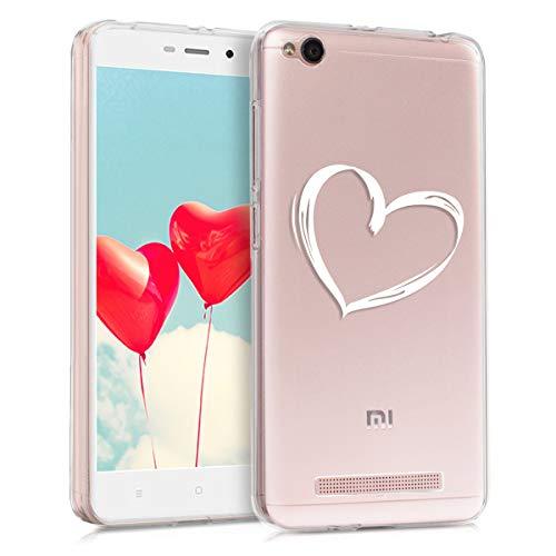 kwmobile Xiaomi Redmi 4A Hülle - Handyhülle für Xiaomi Redmi 4A - Handy Case in Weiß Transparent