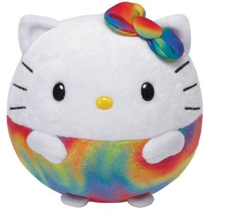 TY 7138967 - Hello Kitty Ball X-Large - Regenbogen, Beanie Ballz, ø 35 cm