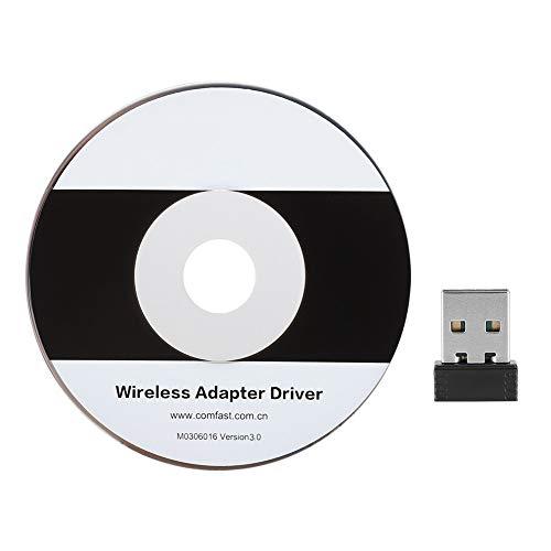 Mavis Laven Mini-WiFi-Adapter, 150 Mbit/s tragbare Hochgeschwindigkeits-USB-Antenne für drahtlose Netzwerkkarten CF-WU710N -
