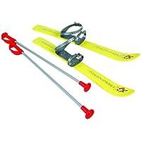 Plastkon – esquís Resistentes a los Rayos UV para niños, Infantil, UV Resistant, Amarillo, 69 x 21 x 5 cm