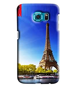 Blue Throat Effil Tower Printed Designer Back Cover/Case For Samsung Galaxy S6 Edge Plus