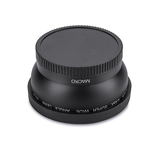 EBTOOLS 52mm 0.45X Universal Weitwinkelkonverter Makroobjektiv, Nahlinse für Kamera Canon Nikon Sony (Schwarz)
