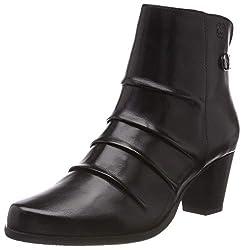Gerry Weber Shoes Louanne 09, Damen Kurzschaft Stiefel, Schwarz (Schwarz 100), 40 EU (6.5 UK)