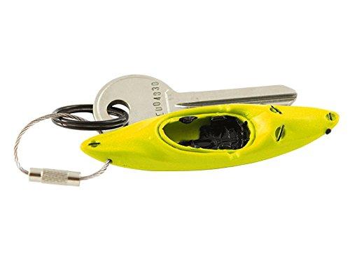 Schlüsselanhänger Wildwasser Kajak Kanu Boot Paddeln detailgetreuer Anhänger, Farbe:gelb