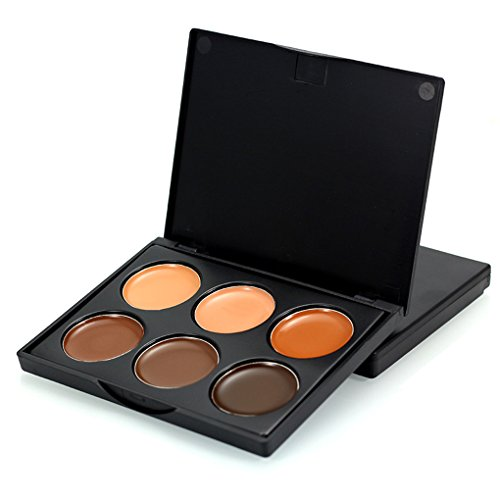 IMHERE W U Frauen 6 Farben-Form-Gesichts-Creme Make-up Concealer Palette für Kosmetik Make-up