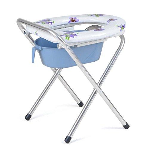 PIGE Silla de baño plegable de acero inoxidable silla de baño mayor de las mujeres embarazadas 31 * 36 * 46 cm