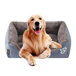 KOBWA Orthopädisches Hundebett, Premium-Plüsch-wasserdicht, für Hunde und Katzen, lindert Arthritis Schmerzen und verbessert den Schlaf, waschbar, warm und langlebig