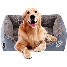 KOBWA Cama ortopédica para Perro, de Felpa Premium Impermeable, para Perros y Gatos,