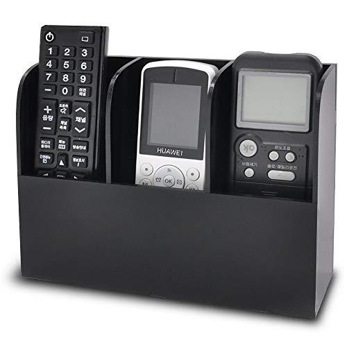 Tercera Generación Montado en la Pared Organizador, Fits Para Teléfono, Libro, Revistas, TV Mando a Distancia, Extra Grande Tres Compartimentos 3x8.3cm, Negro