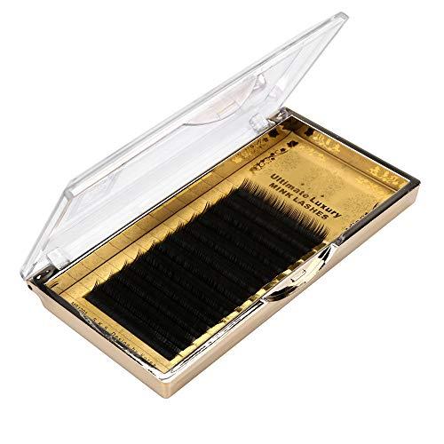 wyxhkj faux cils Extension de cils de cils de vison de cils individuels de maquillage de 8 / 12mm 0.10 C (B)