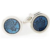 Gemelli color Blu Marino Realizzati da Dragon Porter come Accessori Business per Lui