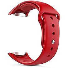 MoKo Gear S2 Watch Correa, Silicona Suave Correa Reemplazo Deportiva para Samsung Galaxy Gear S2 SM-R720 / SM-R730 Smart Watch - Rojo (No apta Gear S2 Classic SM-R732)