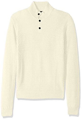 Perry Ellis herren Solid Textured Mock Neck Sweater  Pullover  -  weiß -  (Herren-hemd Perry Ellis)