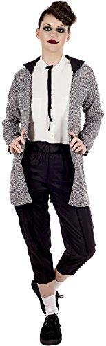 Damen 1950s Jahre 50s Jahre Teddy Junge Mode TV Buch Film Henne Do Abend Party Kostüm Kleid Outfit - grau, UK 12-14 (Tv Teddy)