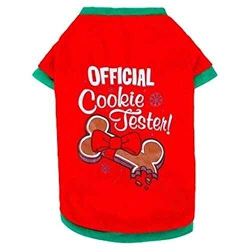 Rock Kostüm Pudel Rote - Yangyme Kleidung für Haustiere, klassisches Weihnachts-Kostüm, Baumwoll-Material, T-Shirt, Teddybären, Bomei Welpen Kleidung (Farbe: Rot, Weiß optional) rot