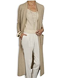 Long Cashmere Cardigan by Catherine Robinson - Latte