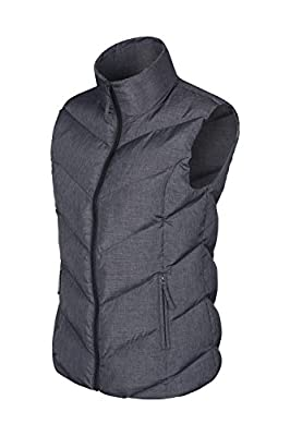Mountain Warehouse Opal Womens Padded Gilet - Lightweight, Zipped Pockets, Warm, Water Resistant Vest - Suitable for Light Rain
