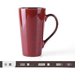Personnalité Tasse en Céramique avec Couvercle Tasse À Café Simple Tasse Créative 500Ml Jujube Rouge 8.7 * 15Cm