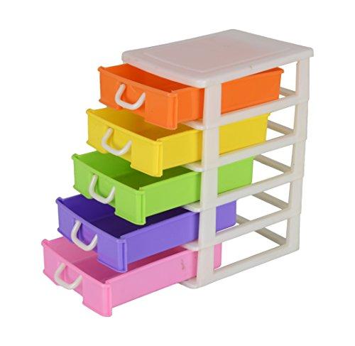 Nakoda Creation Plastic Storage Box (19 cm x 15 cm x 26 cm, Multicoloured, UT103)