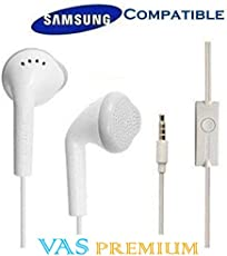 Samsung Compatible Dolby Sound YS EHS61ASFWEC Compatible Earphone in Ear Earphone for Redmi Oppo Vivo and All Mobiles (White) by VAS Premium