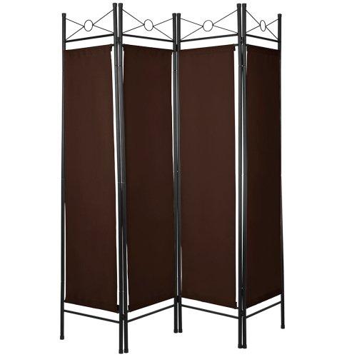 MIADOMODO Raumteiler | 4-teilig Faltbare Panele, Braun | Trennwand, Paravent, spanische Wand, Sichtschutz