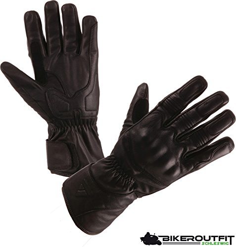 Preisvergleich Produktbild Modeka ARAS Herren Motorradhandschuhe Leder - schwarz Größe 9